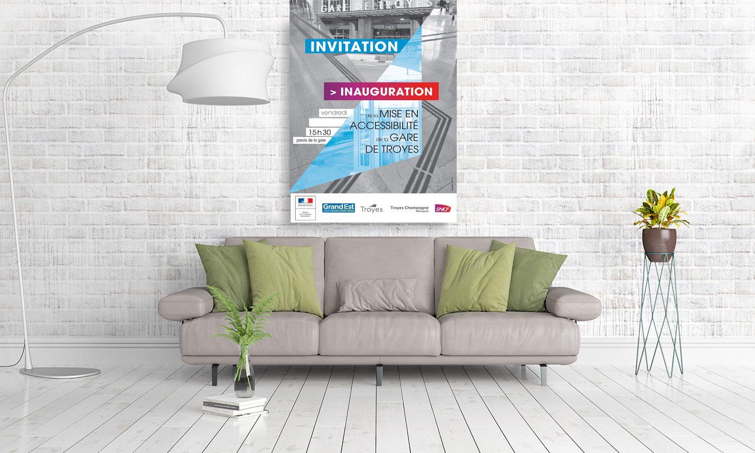 Campagne pour la gare de Troyes