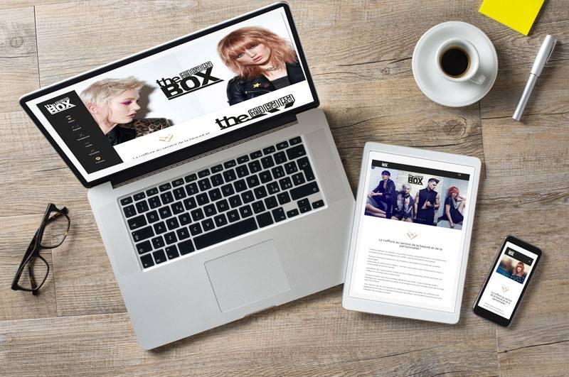 Site internet salon de coiffure The box