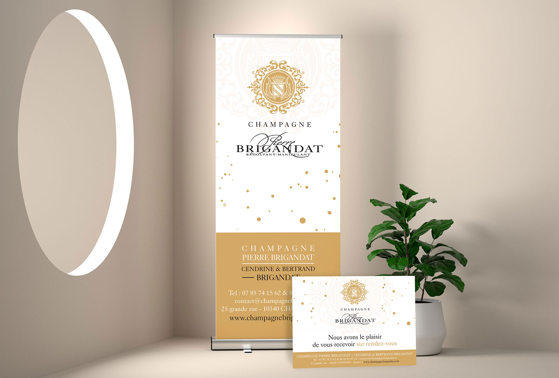 ChampagneBrigandat-Kakémono+PlaquePMMA